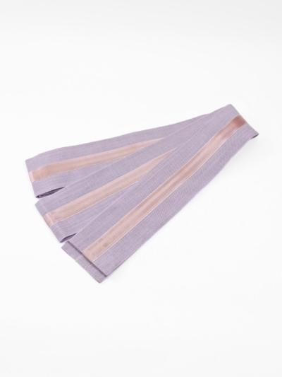 角帯 本麻 サテンテープ (ウスムラサキ×ピンク)