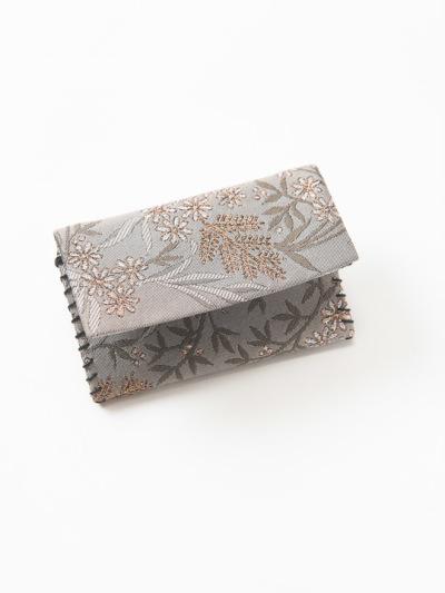 カードケース 草花 (ベージュ)