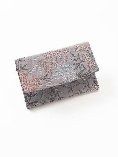カードケース 草花 (グレー)