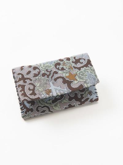 カードケース 刺青 (グレー)中生地  ドット柄