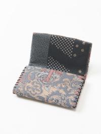 カードケース 刺青 (ピンク)中生地 ドット柄
