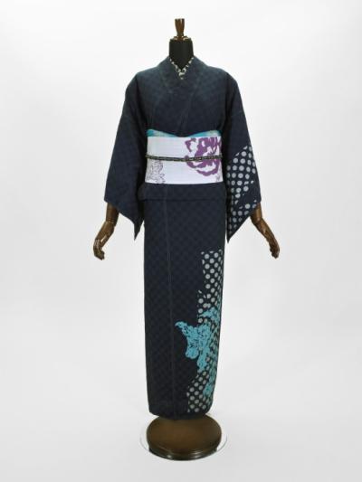 レディース ドットドビー ドット・洋花(コン)F