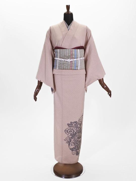 レディース ひねりシボ 花詰シルエット・上ロゴ(オレンジ×ピンク)F