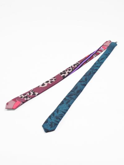 羽織紐 ネクタイタイプ (ピンク系)L