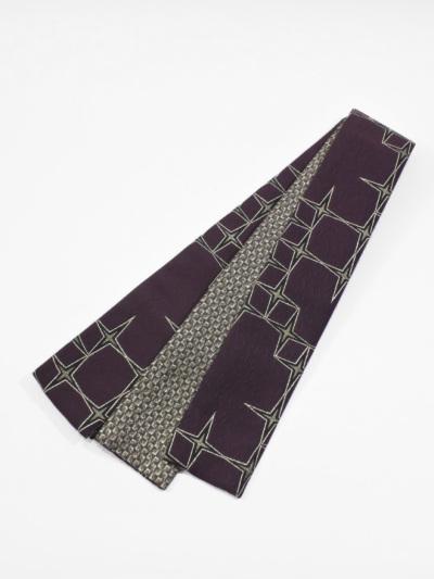 織角帯0113-05 十字星(紫×黒)