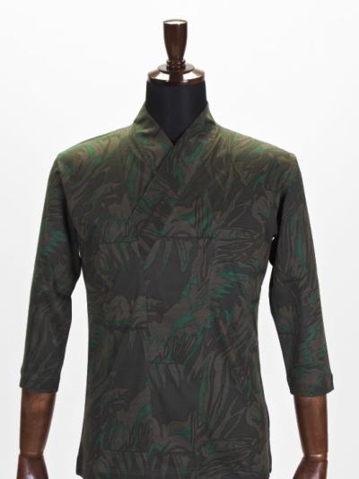 着物衿カットソー メタミラー(カーキ)