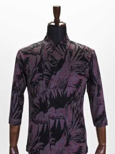 着物衿カットソー メタミラー(ピンクグレー)
