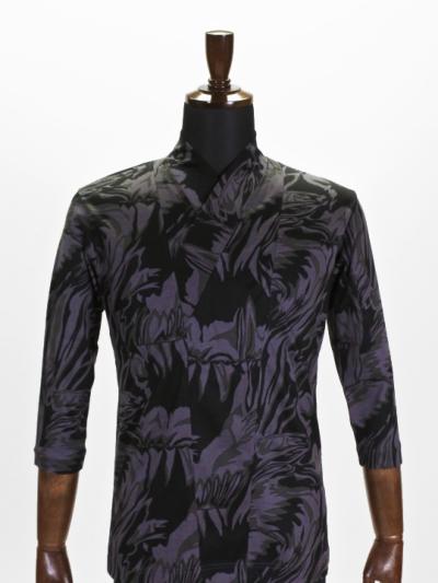 着物衿カットソー メタミラー(グレーカーキ)