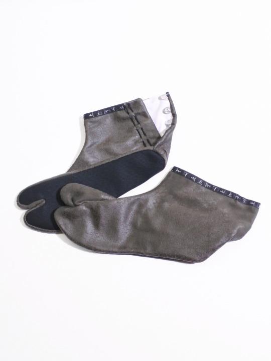 足袋 クラッシュレザー (グレー)