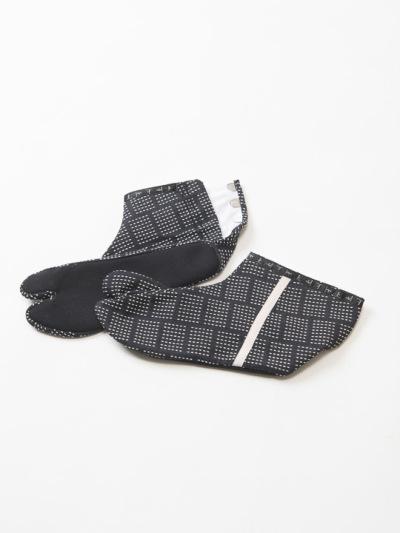 足袋 刺し子 (クロ×シロ)