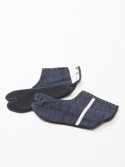 足袋 刺し子 (コン×パープル)