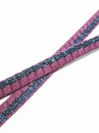 帯締め 三段綾竹色箔(紫×青)