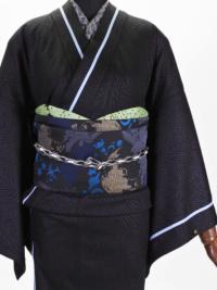 帯締め ハート巻レース(黒)