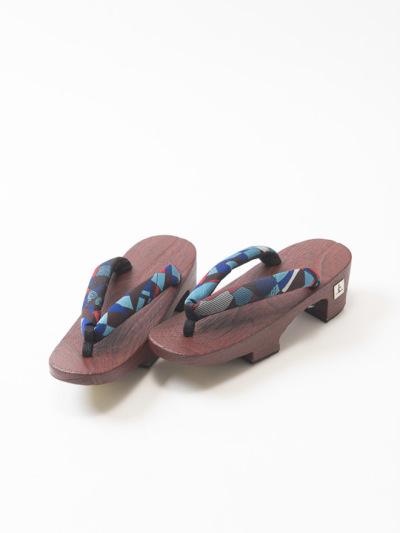 下駄L17-10-03赤小判(モザイクバラ・青)Lサイズ