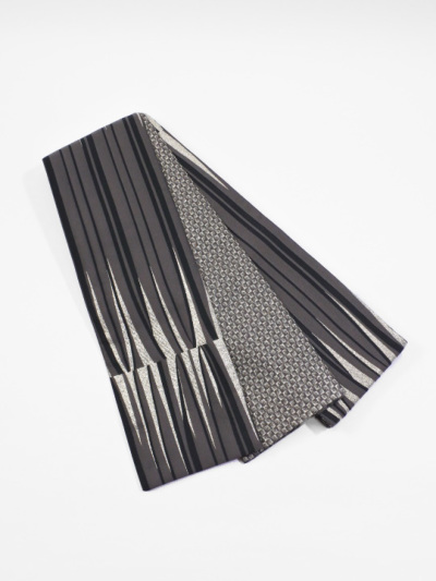半巾帯0154-01 ブラウジング(グレー系)