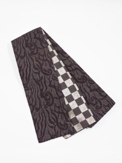 半巾帯0159-01 火焔(パープル系)