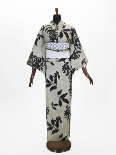 浴衣・上太郎 洋花シルエット (プレタ)
